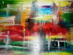 Фото - кафе и абстрактная живопись