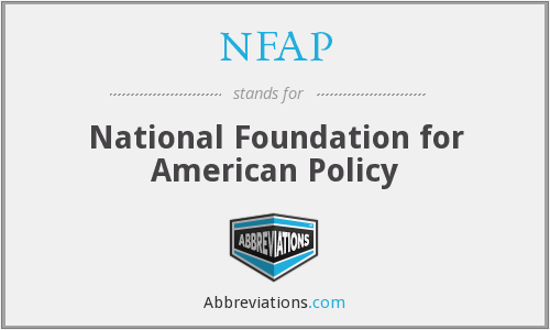 """National Foundation for American Policy"""