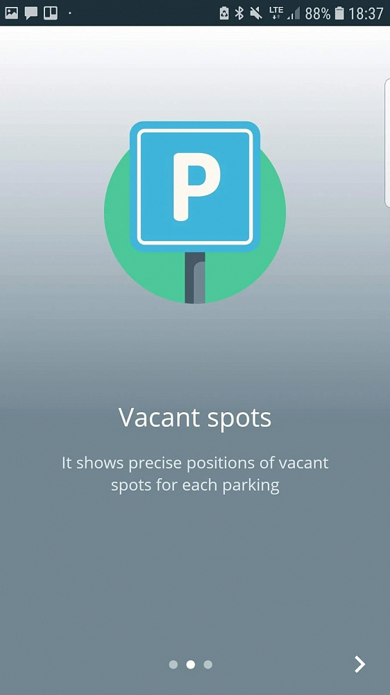 Фото 2 - All free parkings on the map with vacant spots count